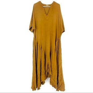 Vintage Laise Adzer Lagenlook Boho Flouncy Dress